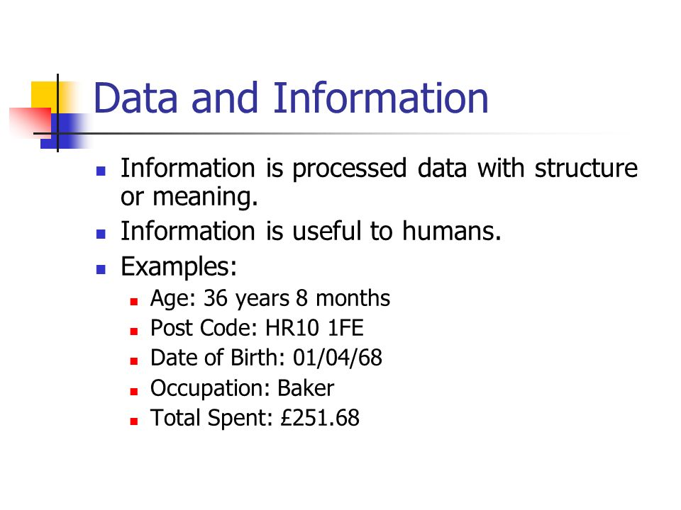 Entities and Data Relationships An entity represents a person or object.
