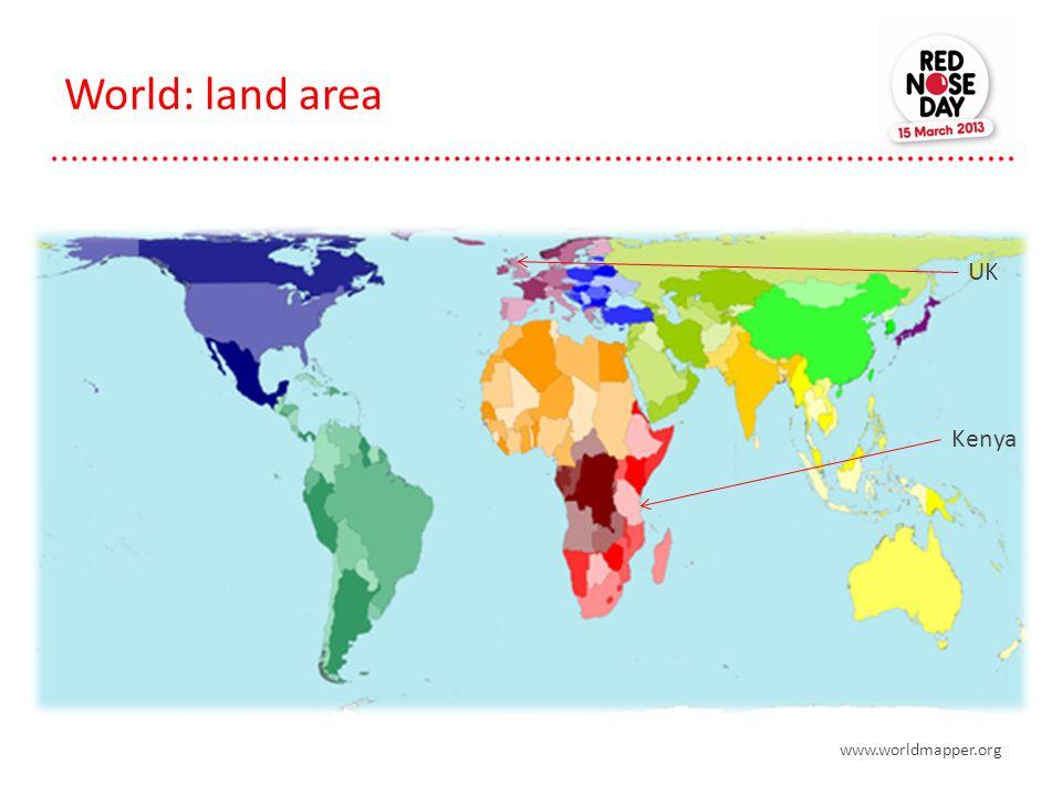 World: land area www.worldmapper.org Kenya UK