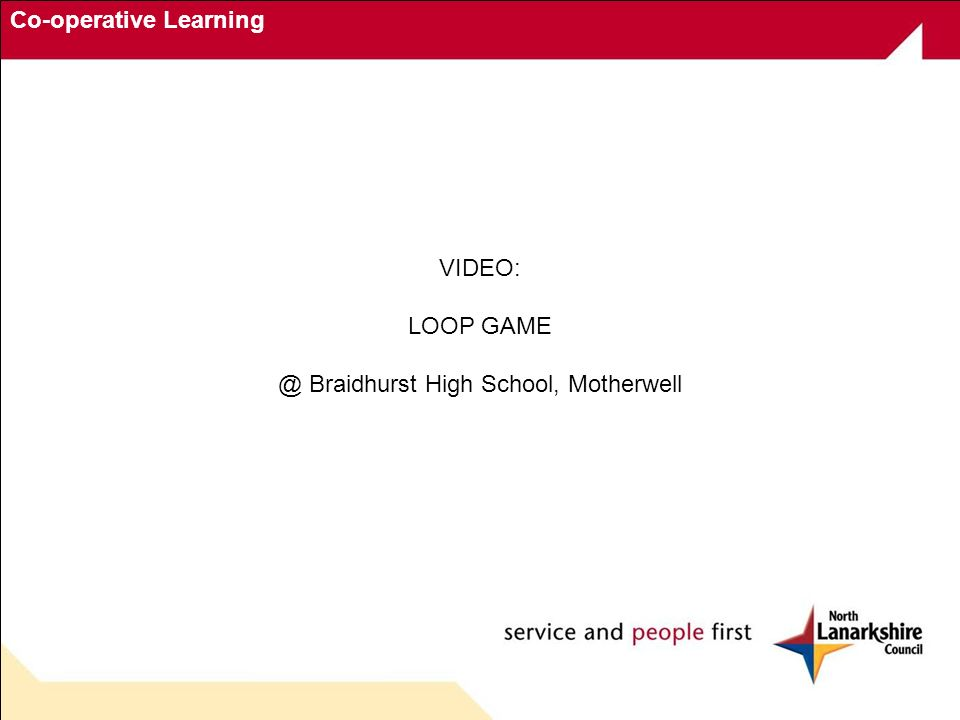 Co-operative Learning VIDEO: LOOP GAME @ Braidhurst High School, Motherwell