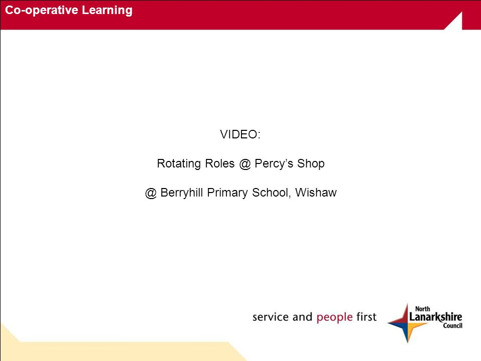 Co-operative Learning VIDEO: Rotating Roles @ Percys Shop @ Berryhill Primary School, Wishaw