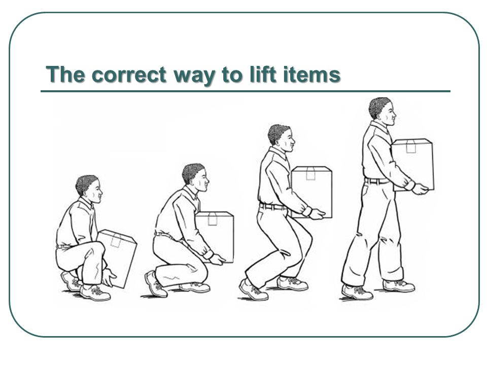 The correct way to lift items