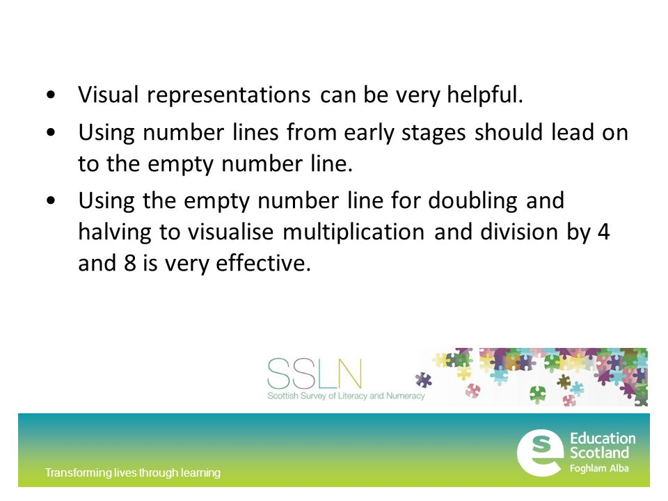 Transforming lives through learning Visual representations can be very helpful.