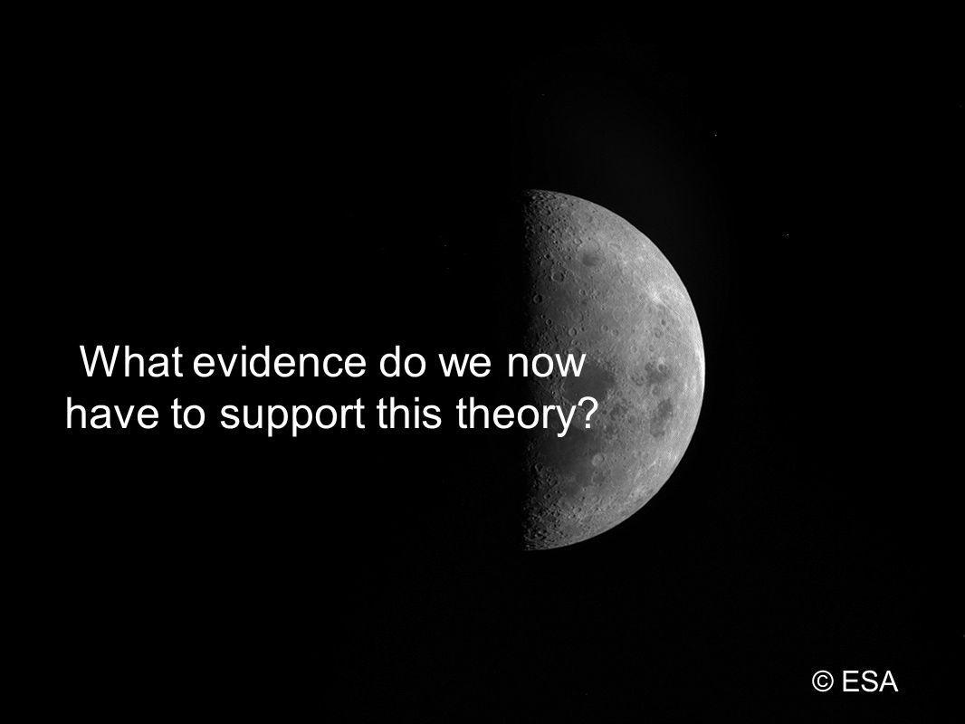 What evidence do we now have to support this theory? © ESA