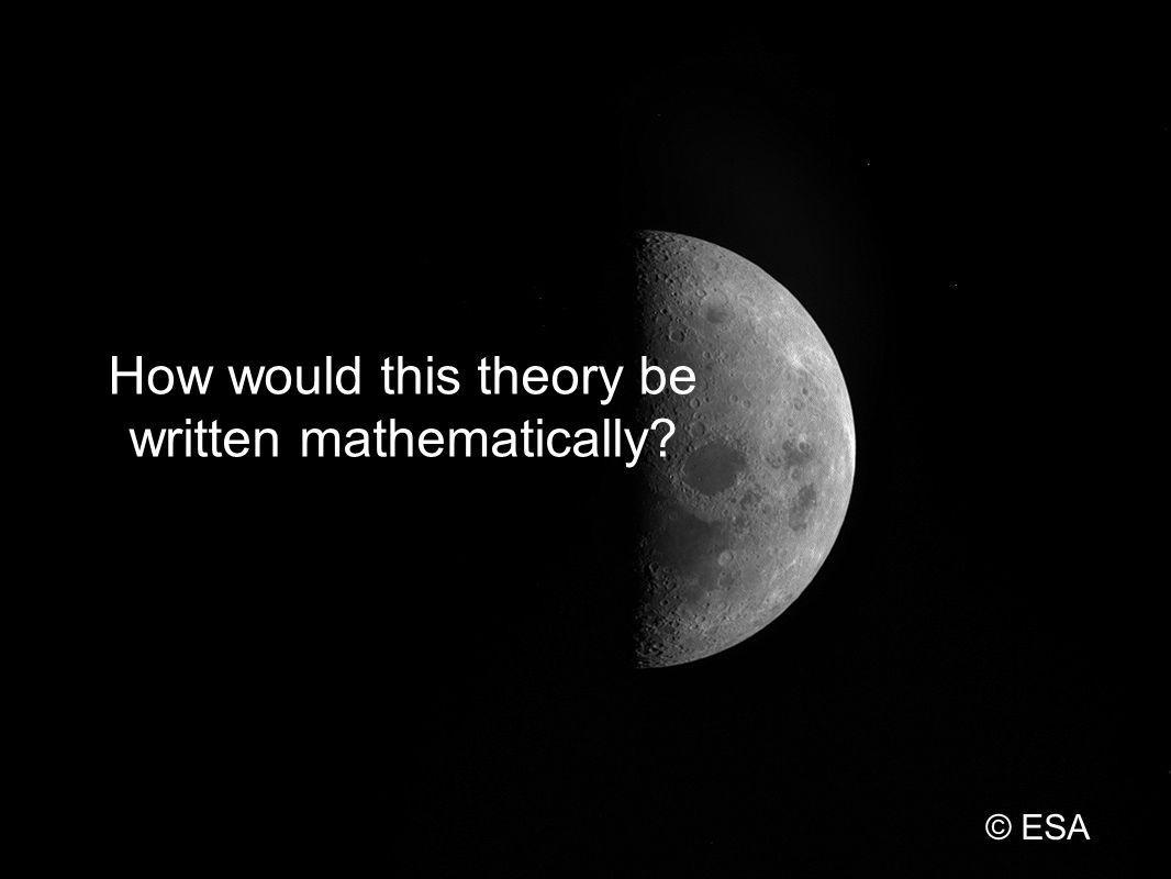 How would this theory be written mathematically © ESA