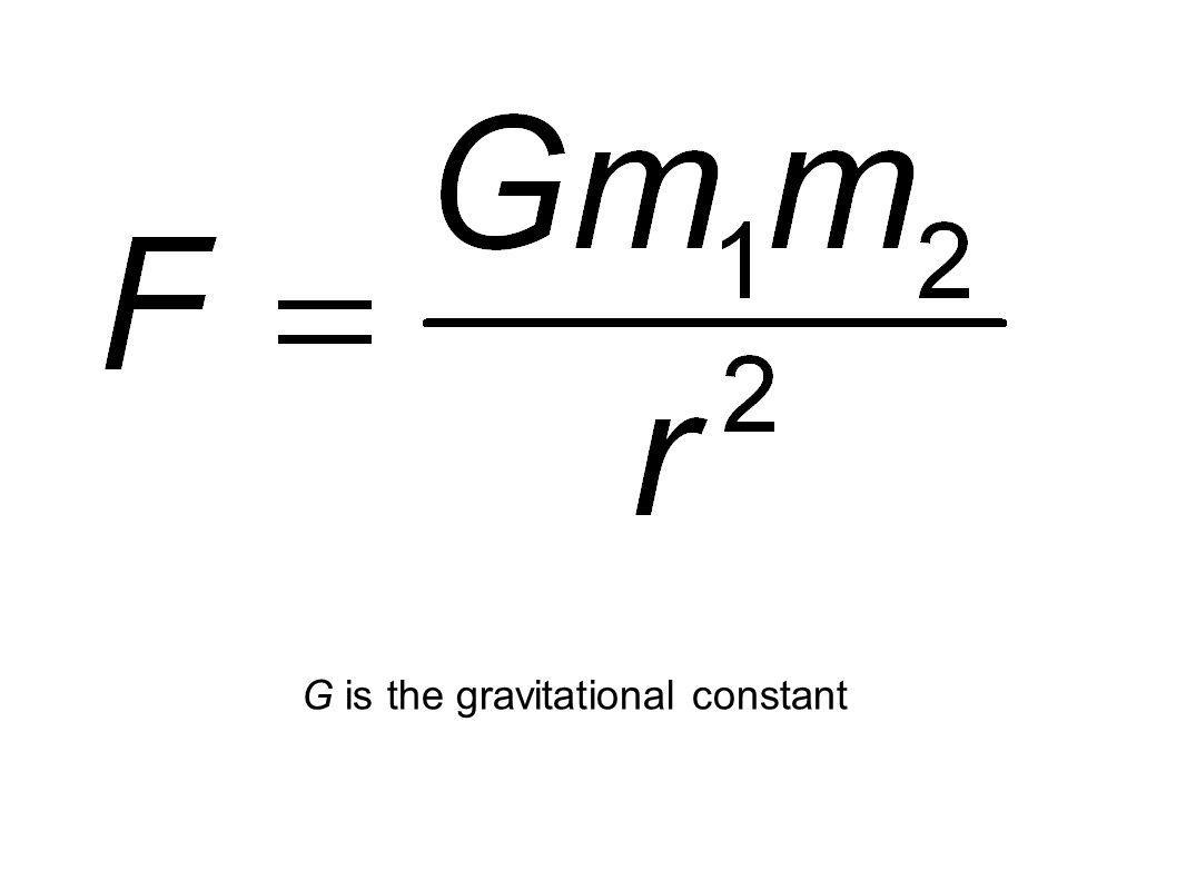 Credits: ESA G is the gravitational constant