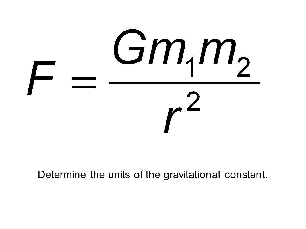 Credits: ESA Determine the units of the gravitational constant.