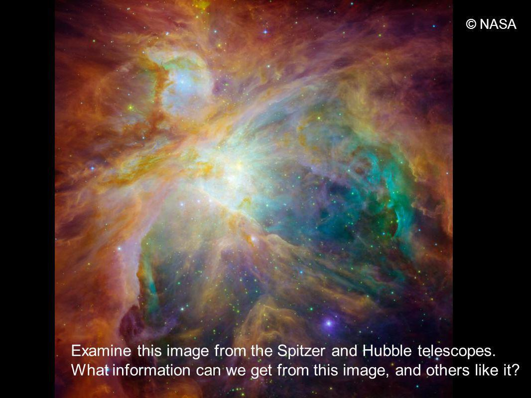 http://www.nasa.gov/images/content/16 2284main_image_feature_693_ys_full.j pg © NASA Examine this image from the Spitzer and Hubble telescopes.