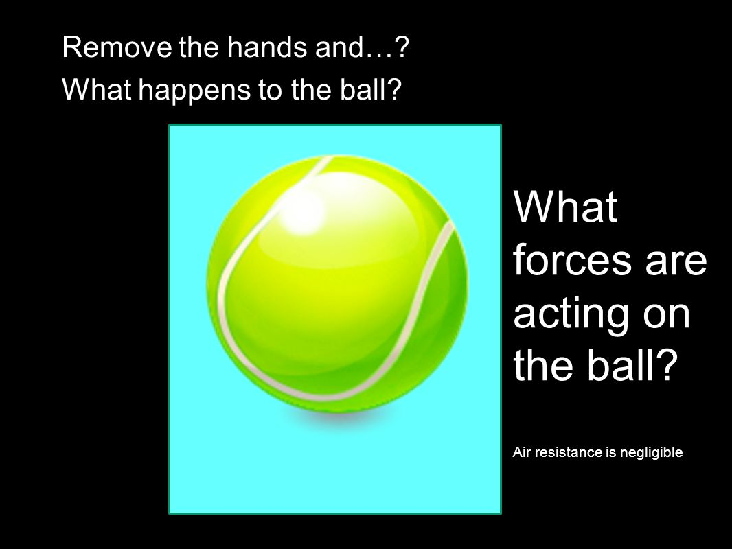When the ball is stationary, what forces are acting on it?