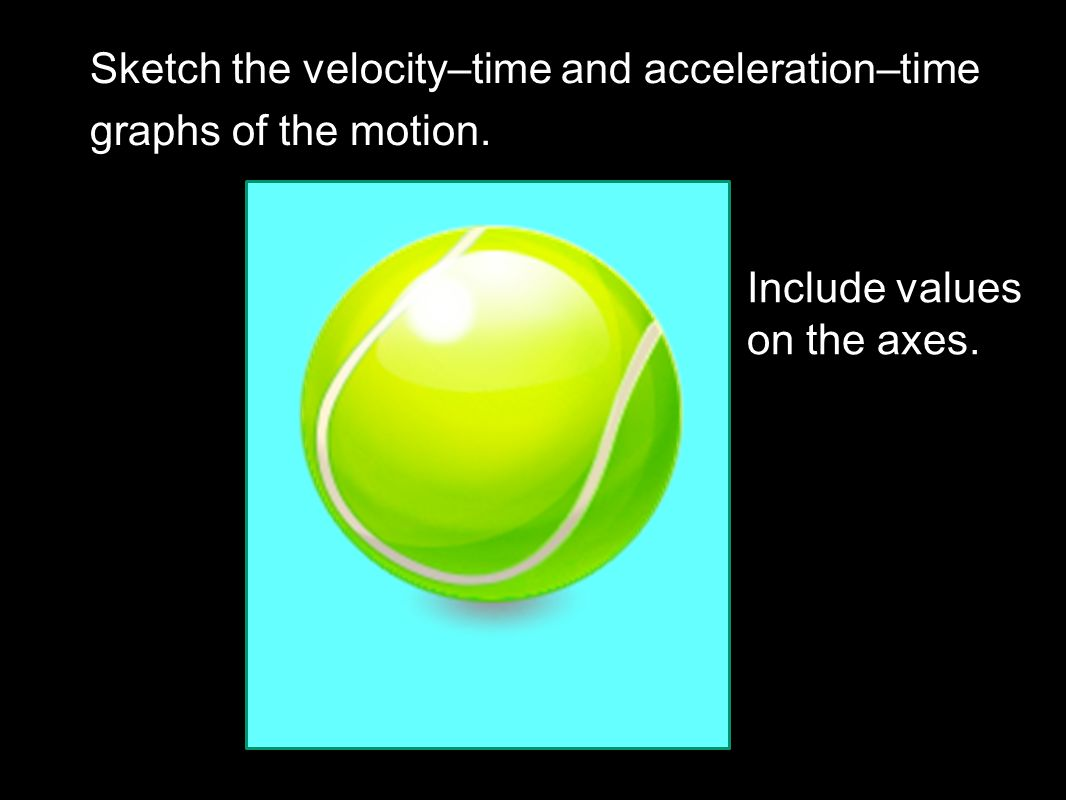 Describe the motion using the words velocity, acceleration and displacement. Explain in terms of forces.