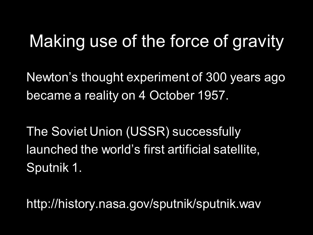 Can you measure gravitational field strength directly? © NASA