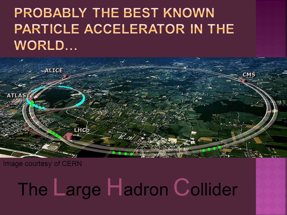 The L arge H adron C ollider Image courtesy of CERN