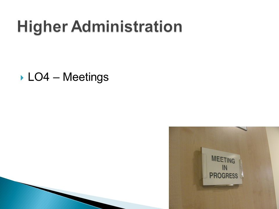 LO4 – Meetings