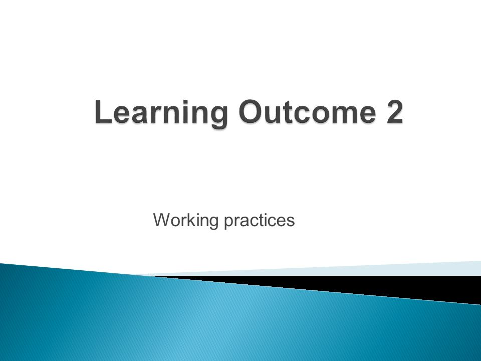 Working practices