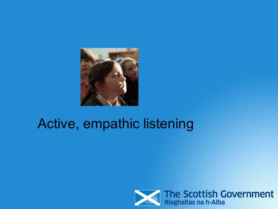 Active, empathic listening