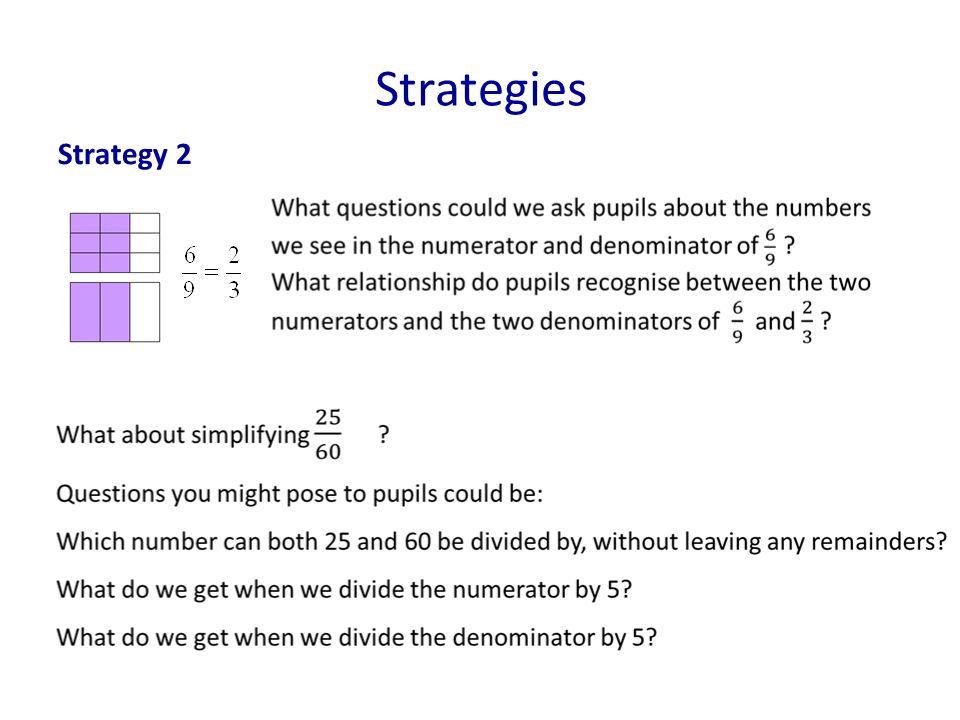 Strategies Strategy 2