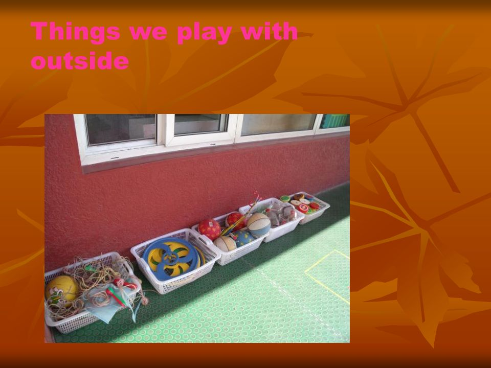 We have games that help us to learn