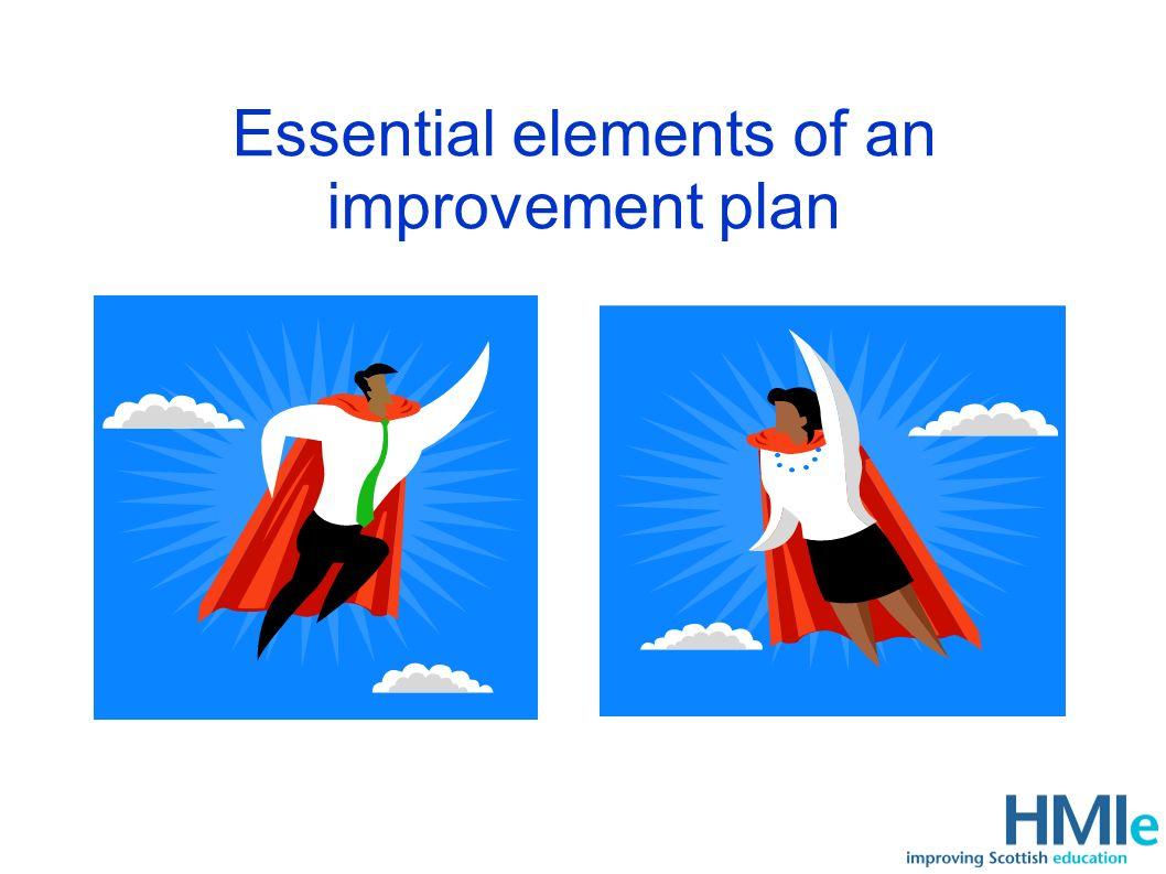 Essential elements of an improvement plan