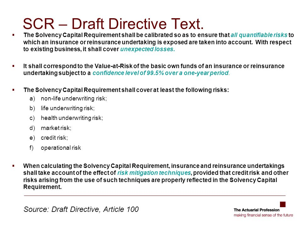 SCR – Draft Directive Text.