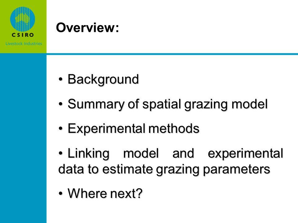Where next.Extension of experimental methods e.g.