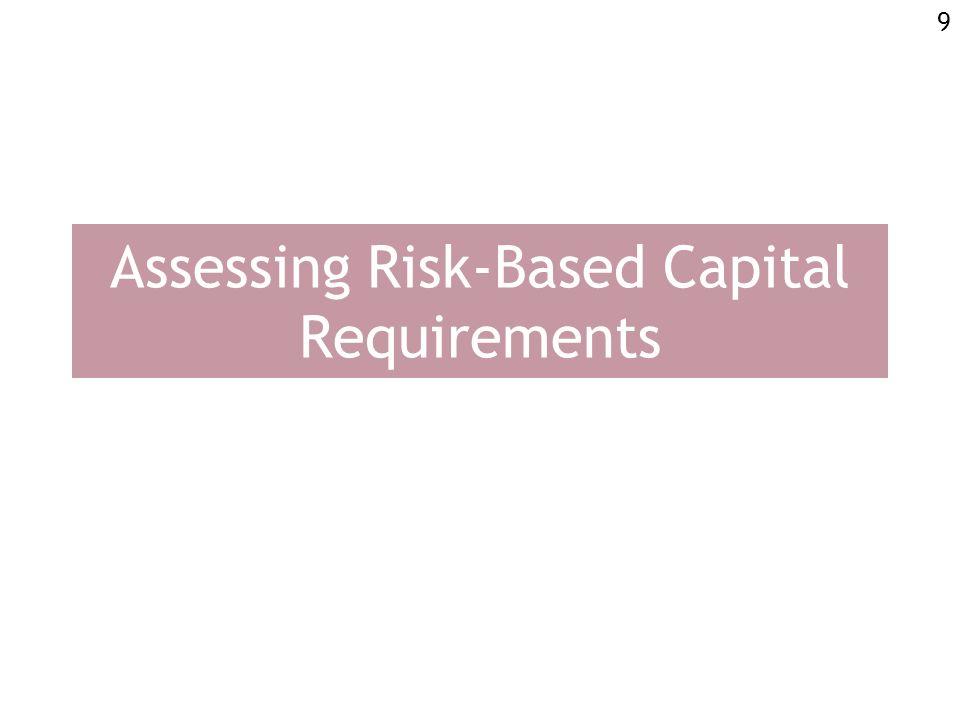 9 Assessing Risk-Based Capital Requirements