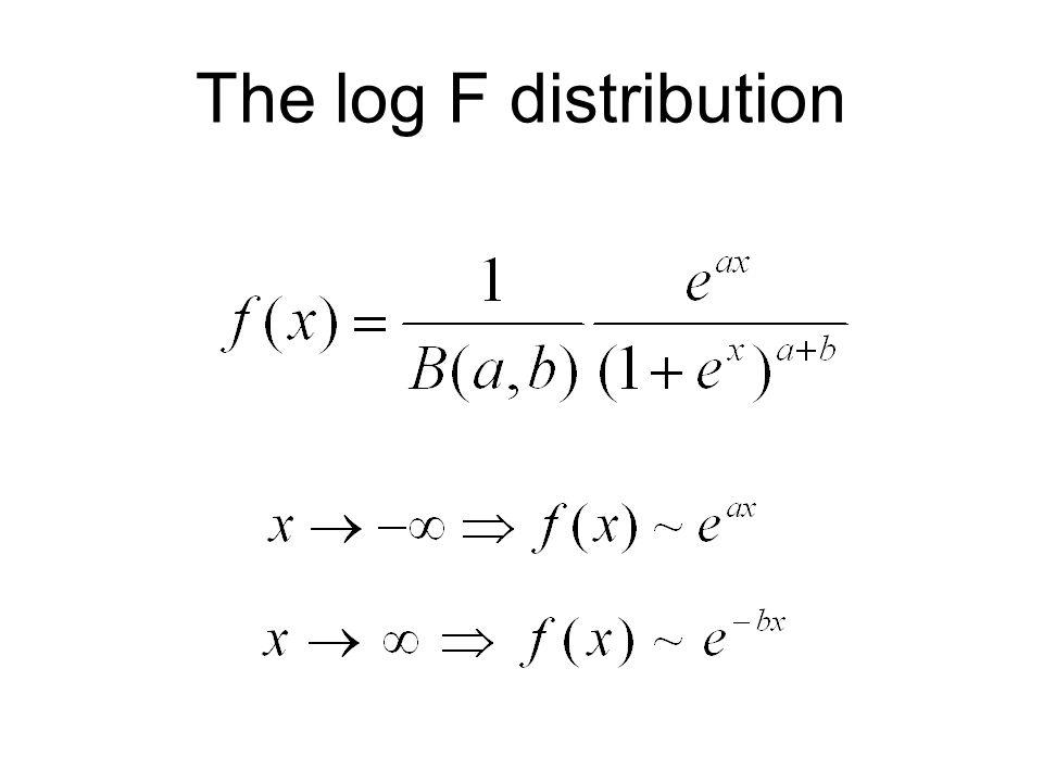 The log F distribution