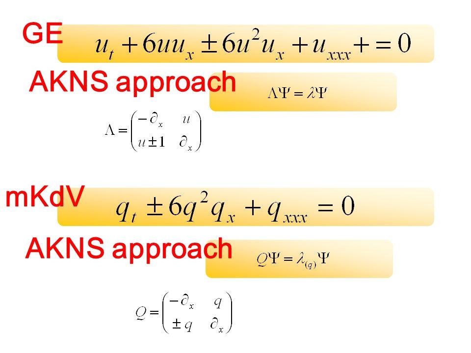 GE AKNS approach mKdV AKNS approach