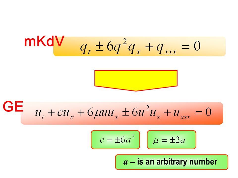 GE mKdV a – is an arbitrary number