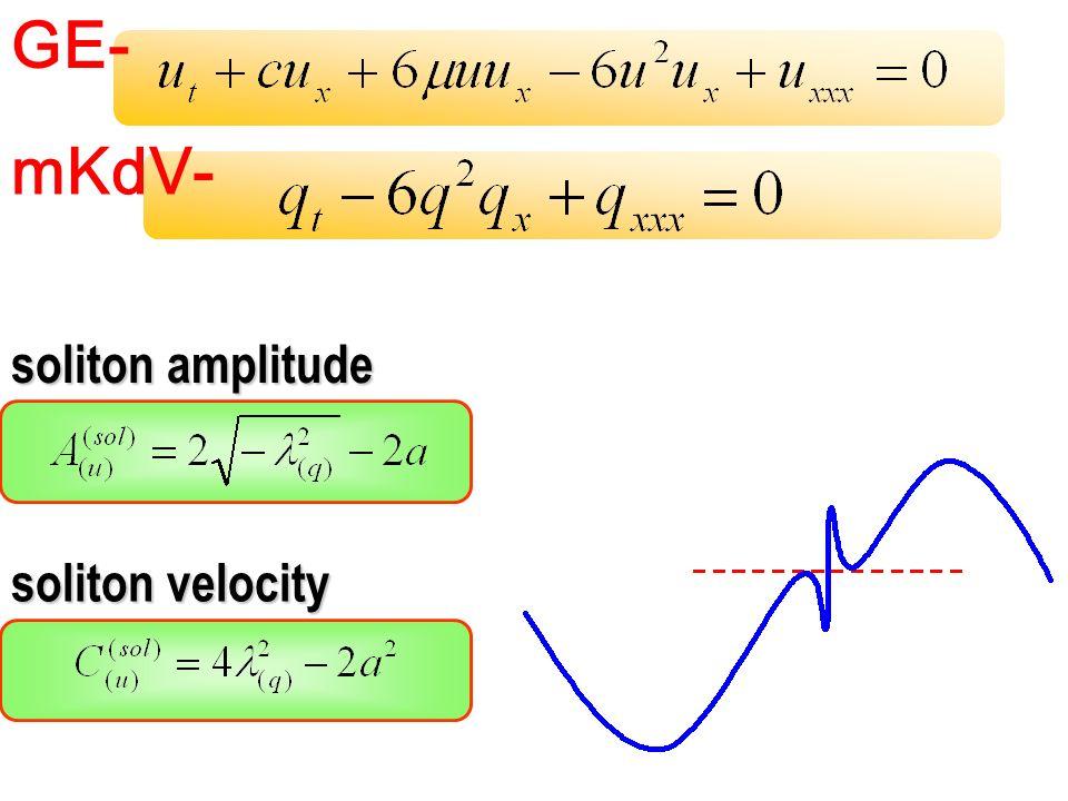 GE- mKdV- soliton amplitude soliton velocity