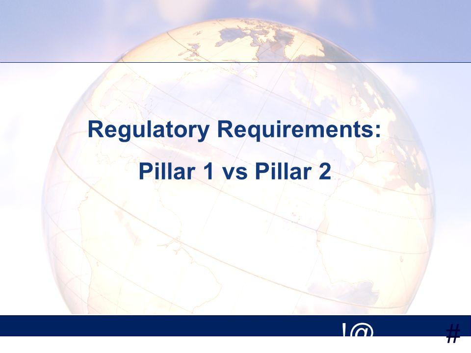 # !@ Regulatory Requirements: Pillar 1 vs Pillar 2