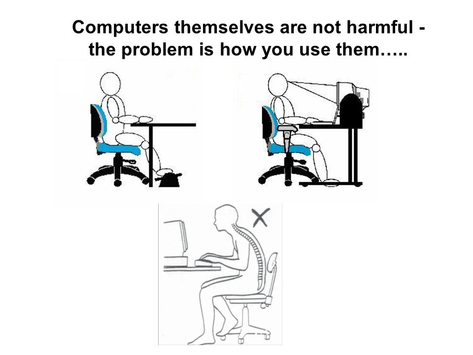 Computers themselves are not harmful - the problem is how you use them…..