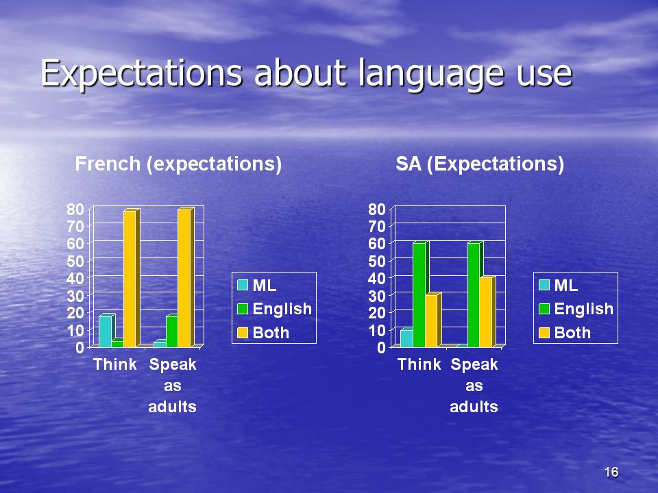 16 Expectations about language use