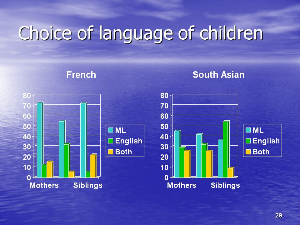 29 Choice of language of children