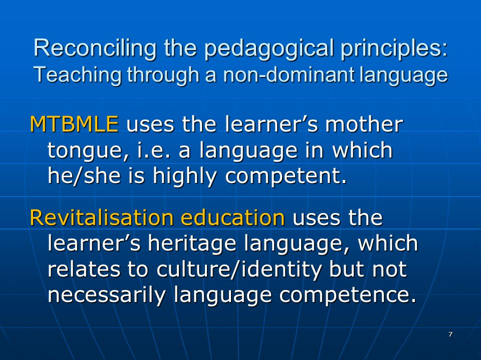 8 Widely accepted principles (Cummins, Krashen, Bialystock, Baker, Swain…) 1.