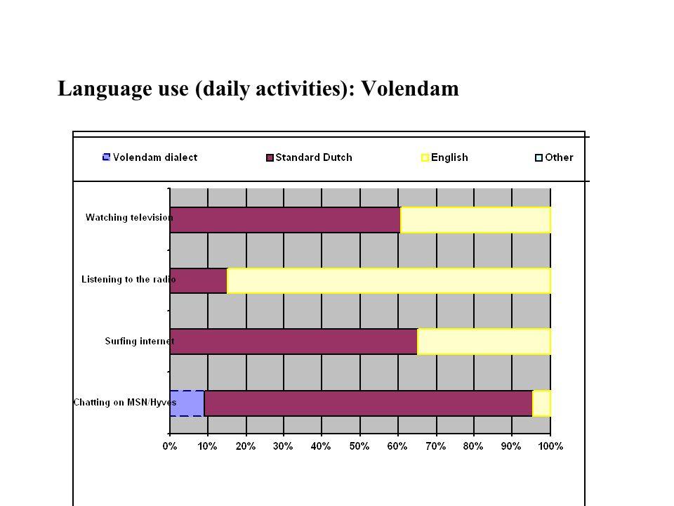 Language use (daily activities): Volendam