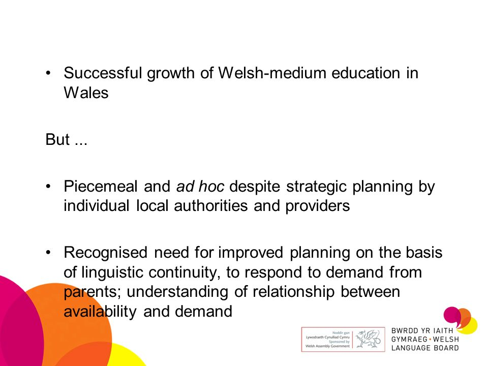 Successful growth of Welsh-medium education in Wales But...