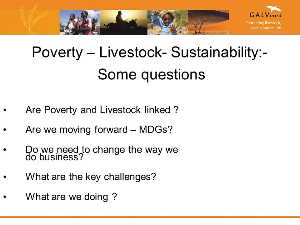 Poverty – Livestock- Sustainability:- Some questions Are Poverty and Livestock linked .