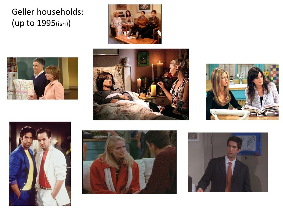 Geller households: (up to 1995 (ish) )