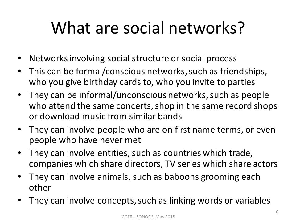 What are social networks.