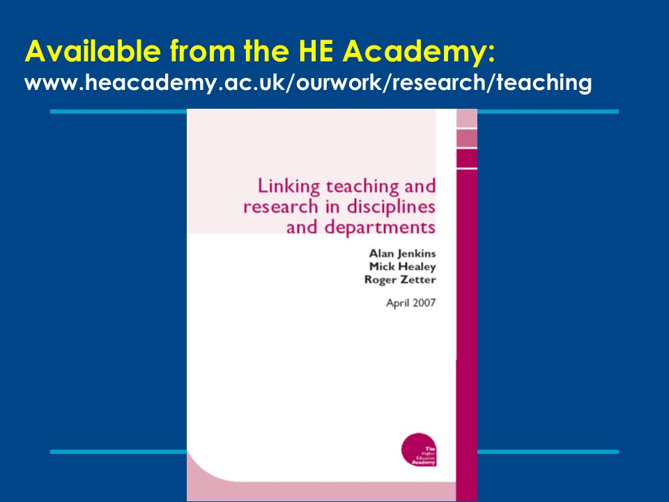 Available from the HE Academy: www.heacademy.ac.uk/ourwork/research/teaching