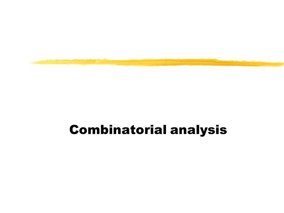 Combinatorial analysis