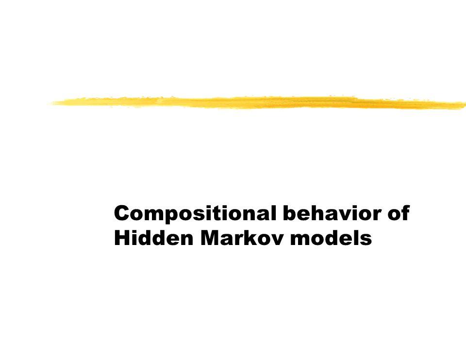 Compositional behavior of Hidden Markov models