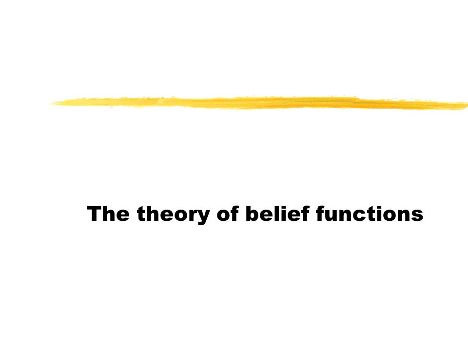 The theory of belief functions