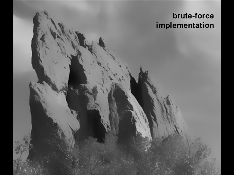 brute-force implementation