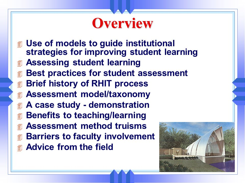 1 Gloria M. Rogers, Ph.D. Institutional Research, Planning, and Assessment Rose-Hulman Institute of Technology Terre Haute, Indiana USA 8th Improving