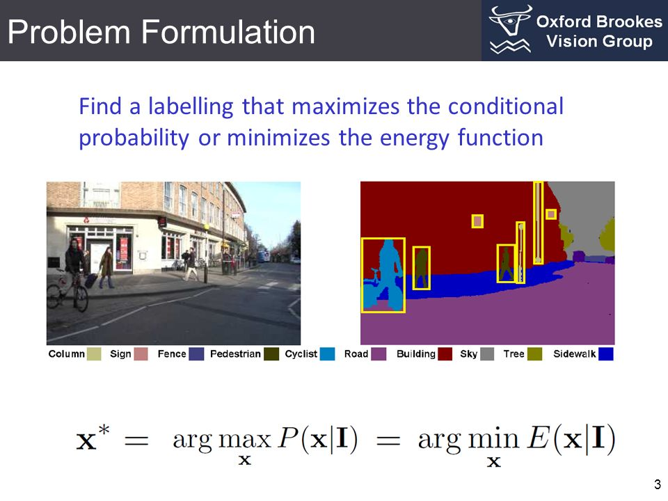 Problem Formulation 4 Grid CRF construction Inference Grid CRF leads to over smoothing around boundaries