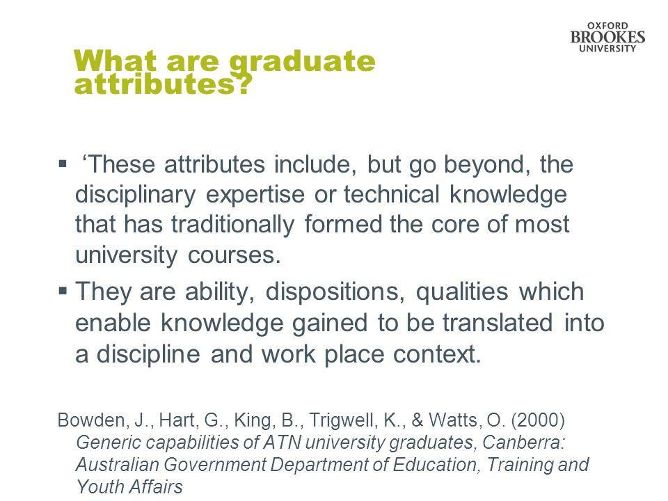 What are graduate attributes.