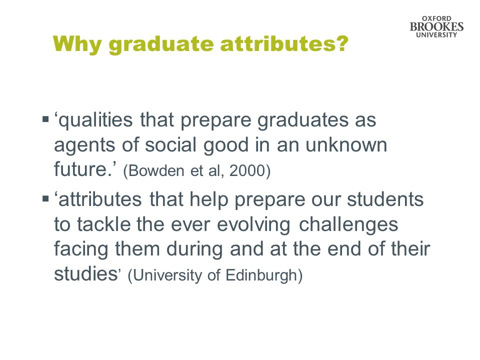 Why graduate attributes.