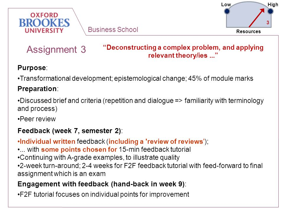 Business School Assignment 3 Deconstructing a complex problem, and applying relevant theory/ies... Purpose: Transformational development; epistemologi