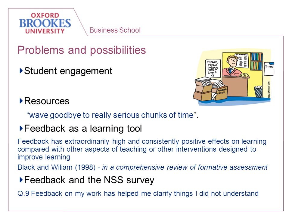 Business School Dialogic feedback- your experiences.