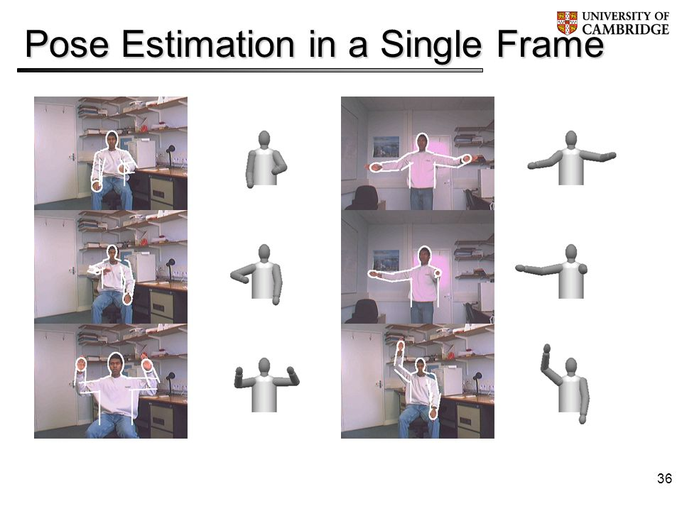 36 Pose Estimation in a Single Frame